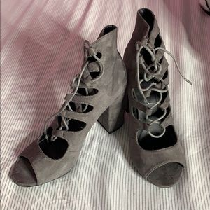 MissGuided Lace Up Booties